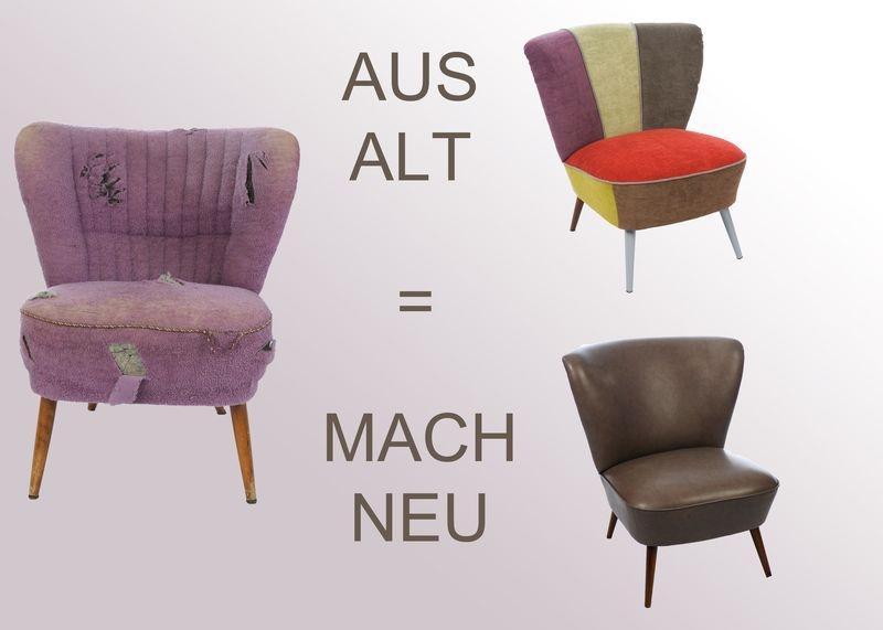 aus alt mach neu projekt cocktailsessel polsterei d johannh rster enniger. Black Bedroom Furniture Sets. Home Design Ideas
